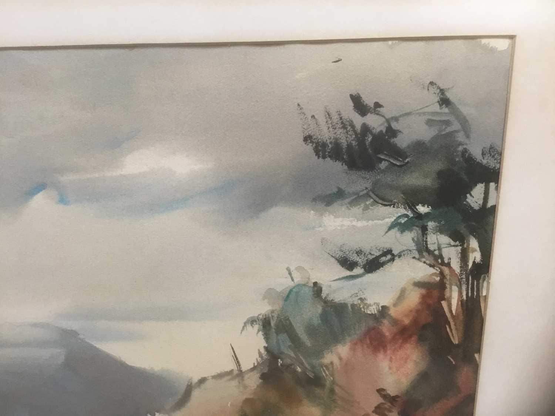 Kurt Schicketanz watercolours 'Lago todo los Santos' and 'Caleta de Pescadores Iquique' - Image 14 of 14