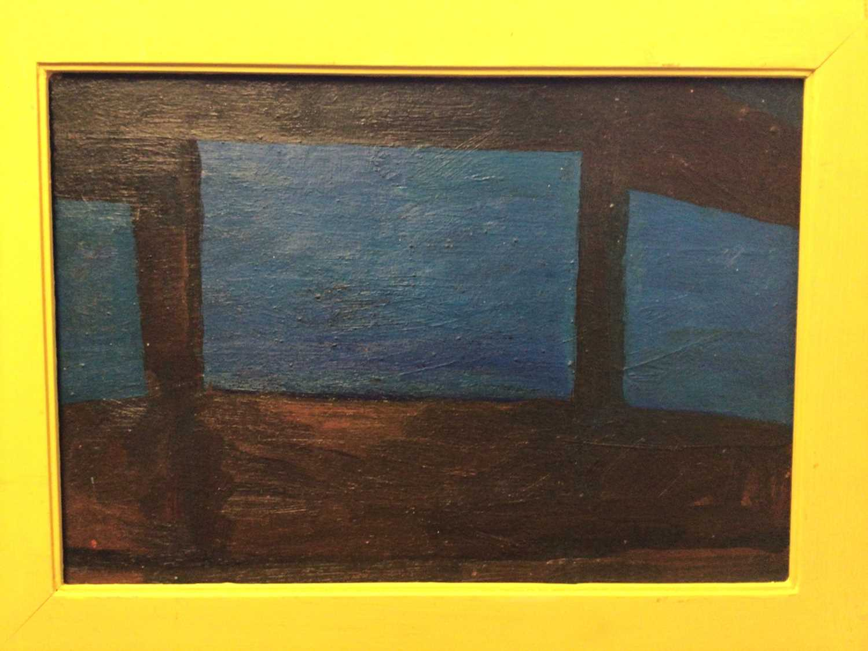 Frank Beanland (1936-2019) oil on board, three windows