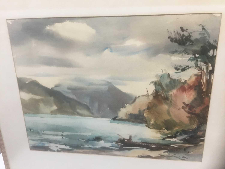 Kurt Schicketanz watercolours 'Lago todo los Santos' and 'Caleta de Pescadores Iquique' - Image 9 of 14