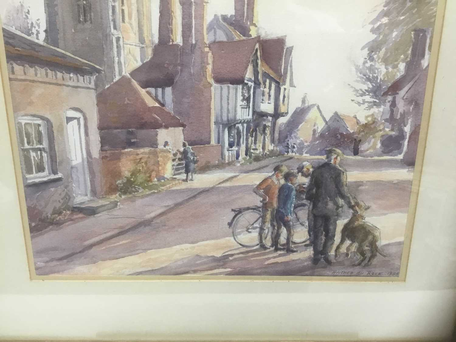 Anthea Du Rose (contemporary) watercolour- Stoke by Nayland - Image 2 of 5