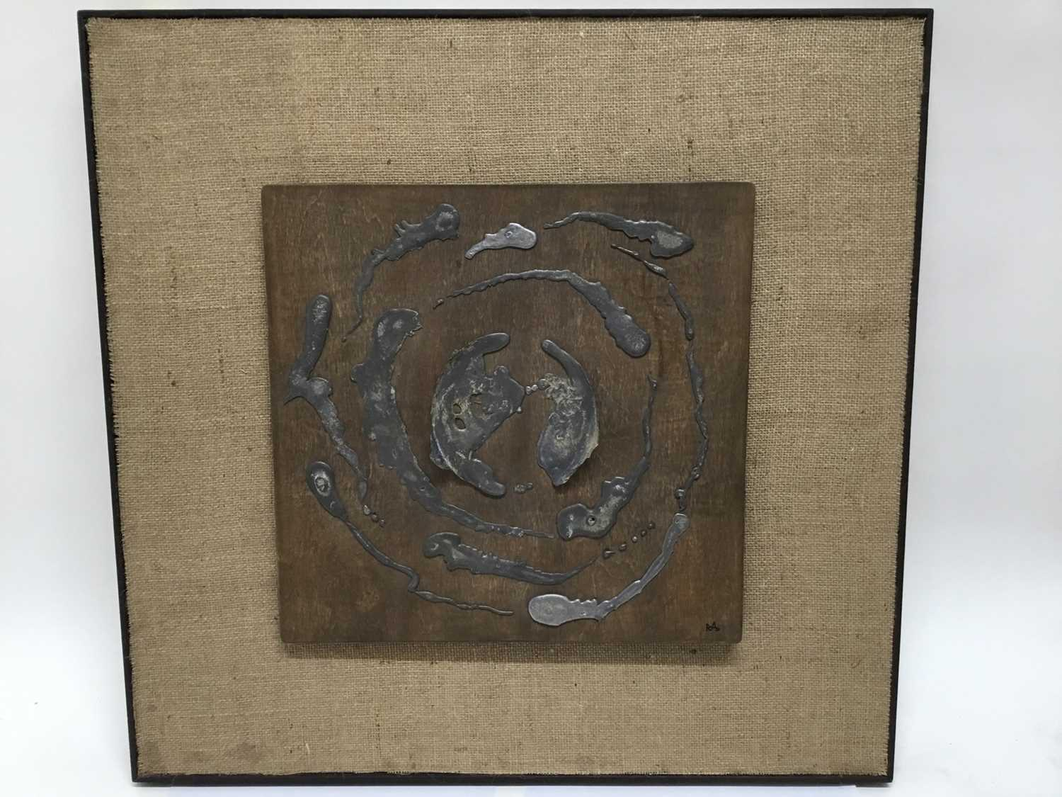 Two Abstract metal sculpture panels - Image 5 of 5