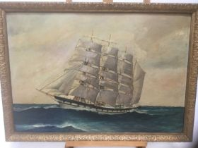 E W Poyser marine scene, signed and dated 1933