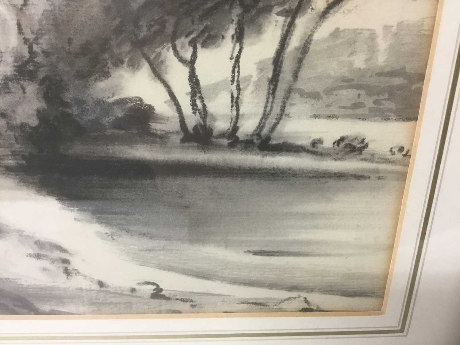 Thomas Monro (1759-1833) charcoal and wash - a landscape, in glazed gilt frame - Image 4 of 6