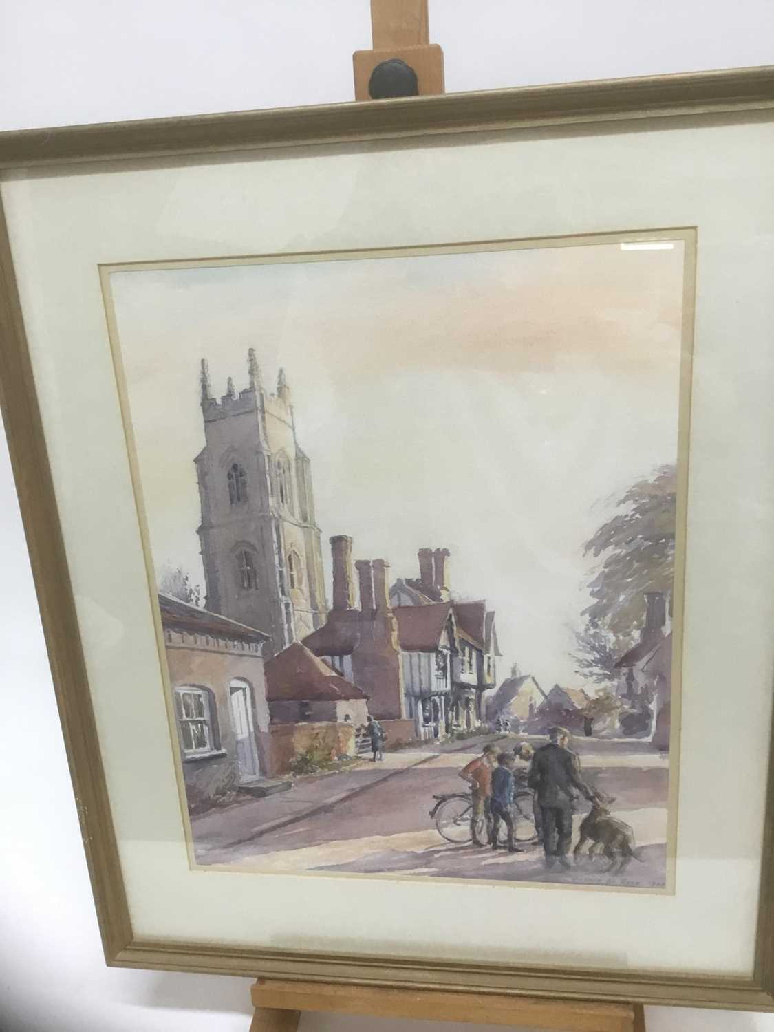 Anthea Du Rose (contemporary) watercolour- Stoke by Nayland
