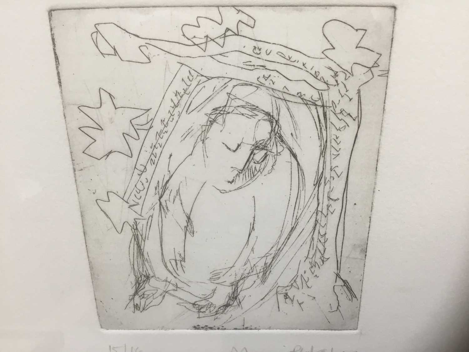 Marcia Blakenham (b. 1946), two signed etchings - figures, one numbered 15/16, in glazed frames - Image 3 of 9