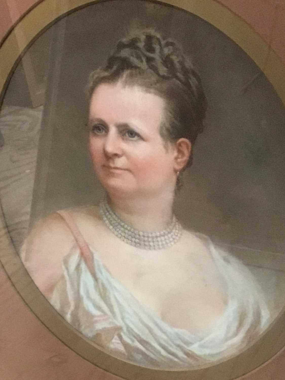 John Whitehead Walton (19th century) pair of pastel portraits.