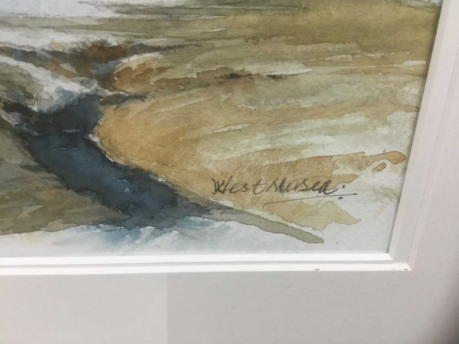 Edwin Meayers (b.1927) watercolour - West Mersea, signed, inscribed and dated '07, 42cm x 67cm, in g - Image 2 of 8