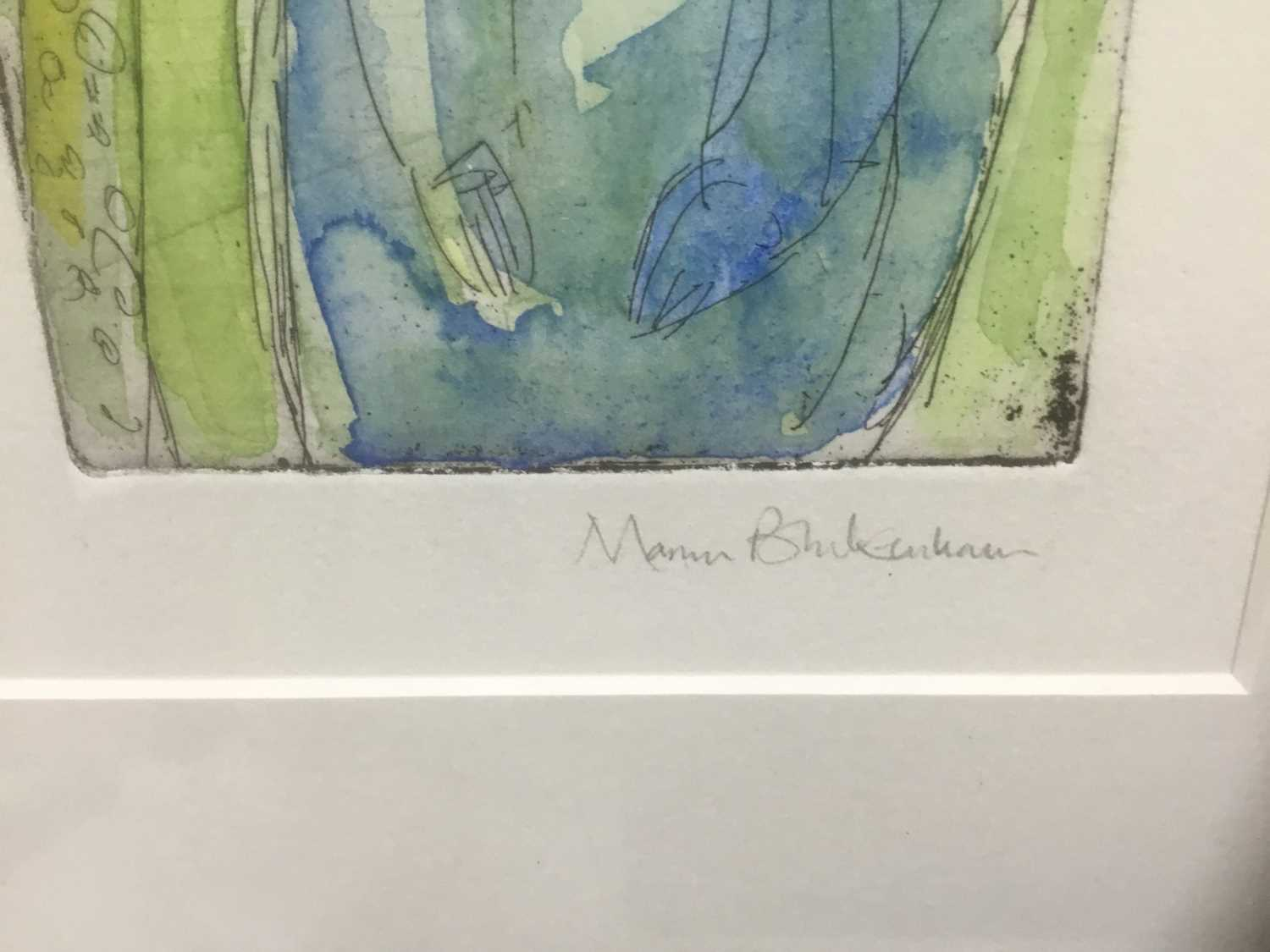 Marcia Blakenham (b. 1946), two signed etchings - figures, one numbered 15/16, in glazed frames - Image 8 of 9