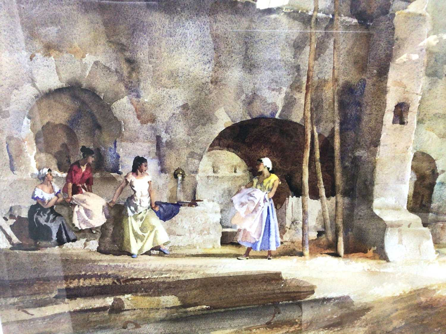 William Russell Flint (1880-1969) limited edition colour print - female figures gathered, with WRF b