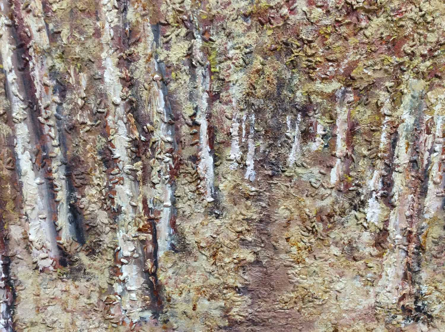1970s mixed media on board - Avenue of Trees, indistinctly signed and dated, framed, 55cm x 69cm - Image 2 of 4