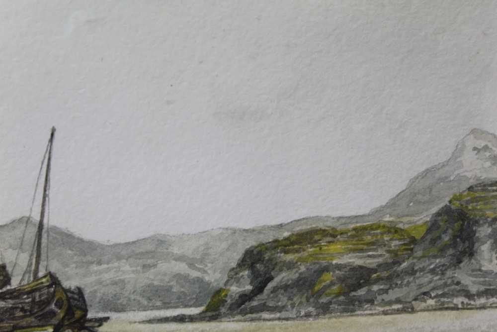 Sir Rutherford Alcock (1809-1897) pencil and watercolour - Junk off headland at the Woofoomun, - Image 5 of 8
