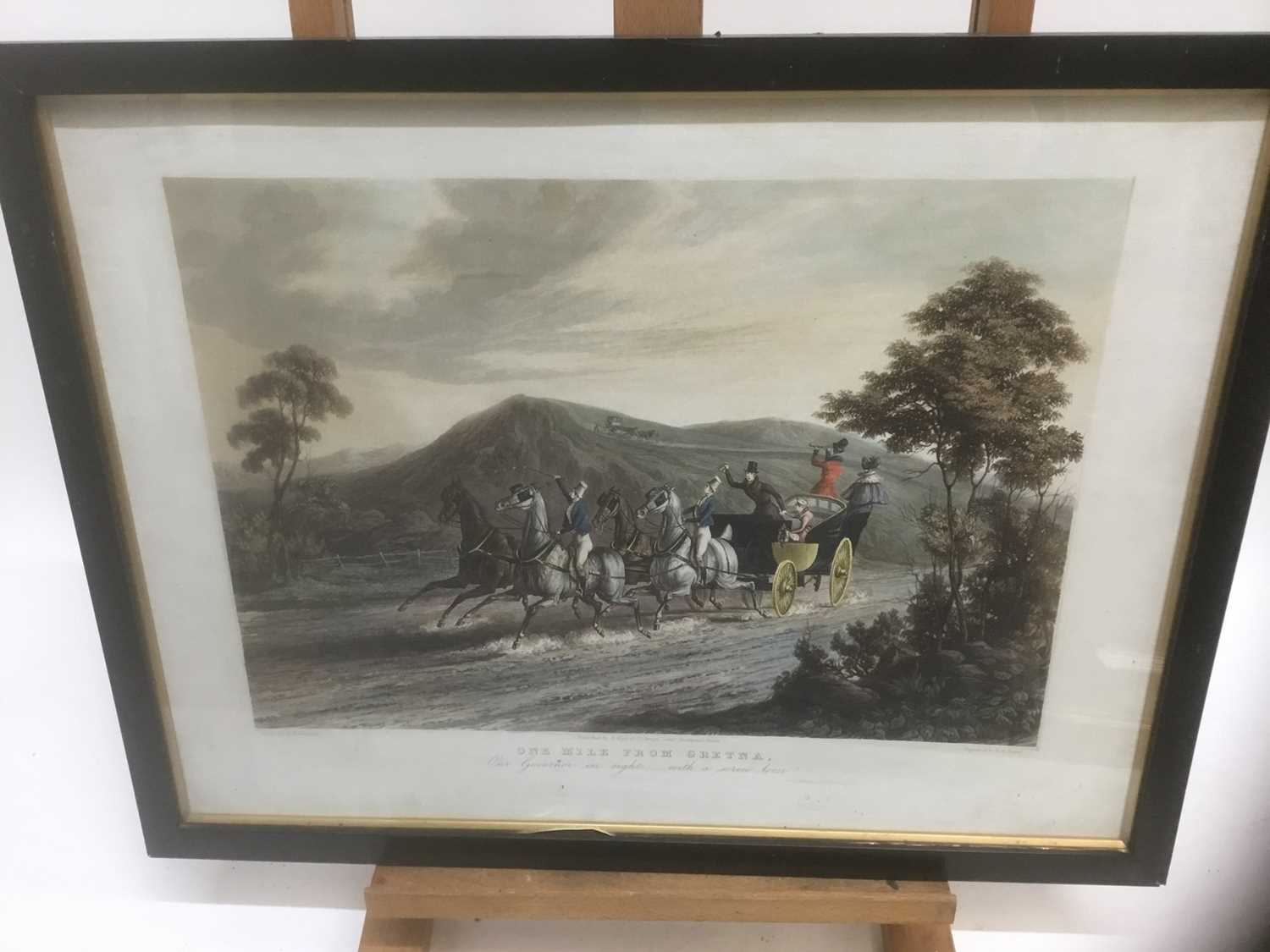 Pair of 19th century hand coloured aquatints by R. Reeves after C. Newhouse, coaching scenes entitle - Image 11 of 11