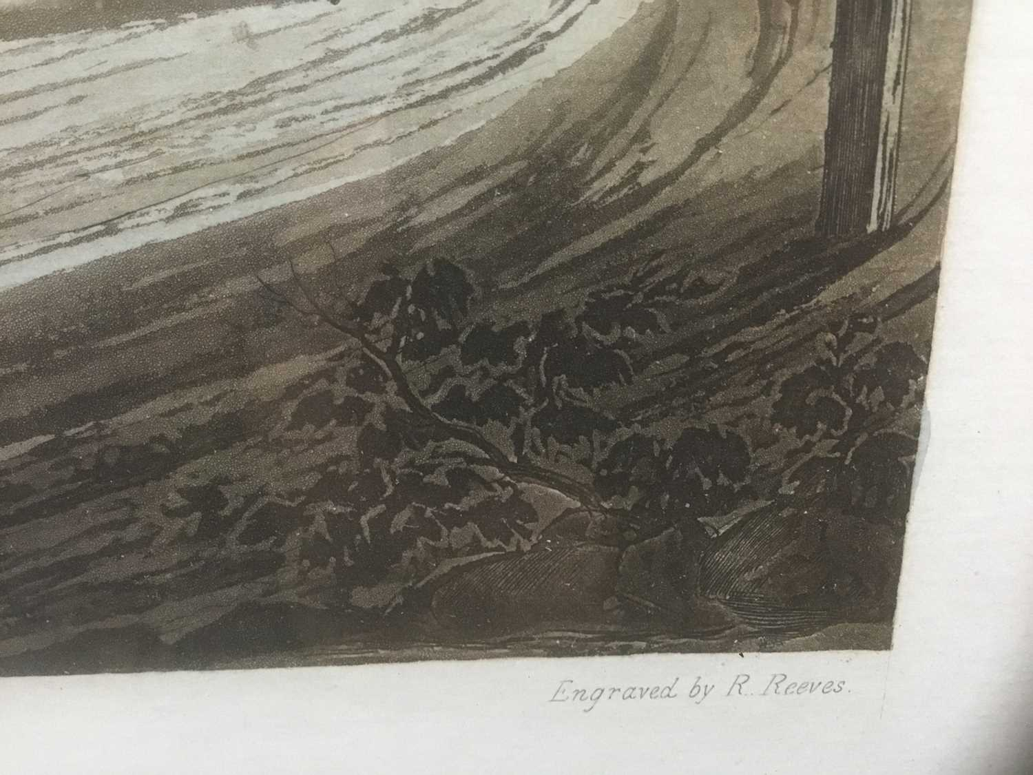 Pair of 19th century hand coloured aquatints by R. Reeves after C. Newhouse, coaching scenes entitle - Image 4 of 11