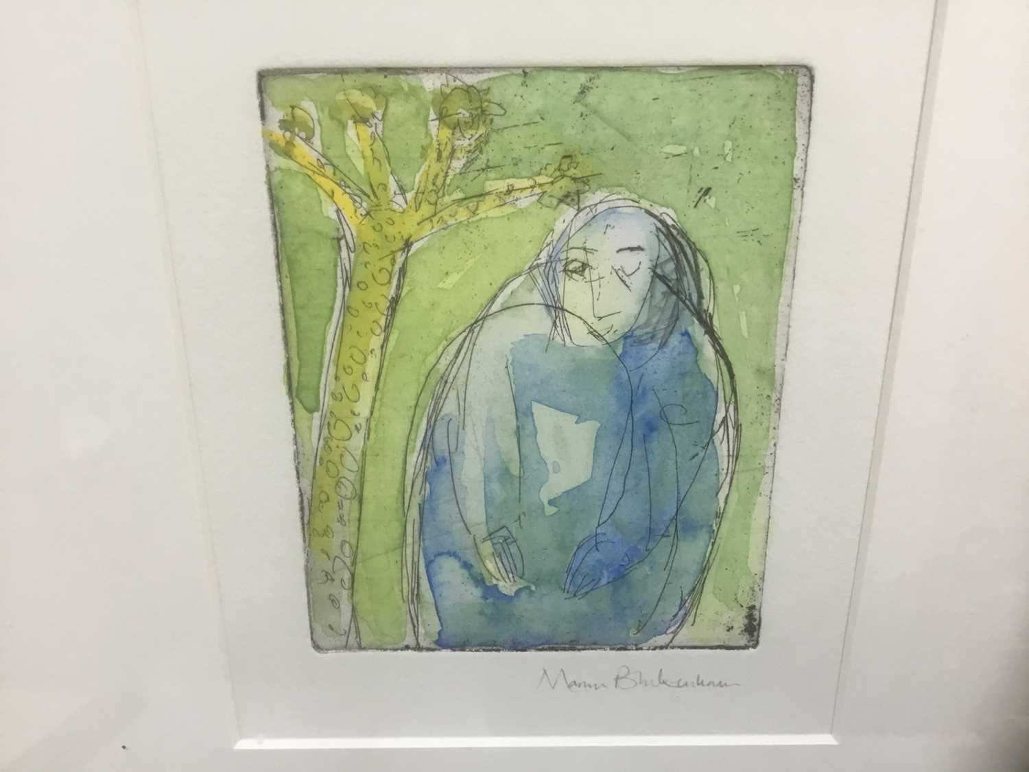 Marcia Blakenham (b. 1946), two signed etchings - figures, one numbered 15/16, in glazed frames - Image 5 of 9