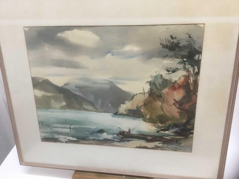 Kurt Schicketanz watercolours 'Lago todo los Santos' and 'Caleta de Pescadores Iquique' - Image 10 of 14