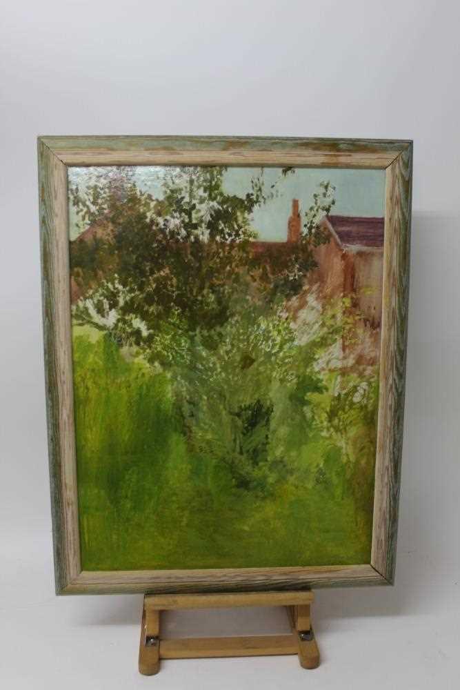Pat Jourdan (Contemporary) oil on board, Back garden - Image 2 of 9