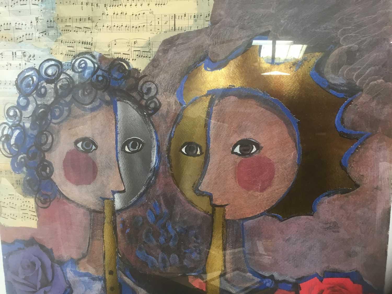 Rosina Wachrmeister (b. 1939) print 'Two girls playing flute - Image 5 of 5