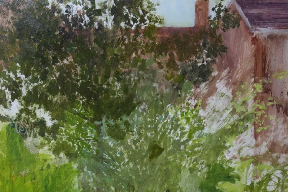 Pat Jourdan (Contemporary) oil on board, Back garden - Image 5 of 9