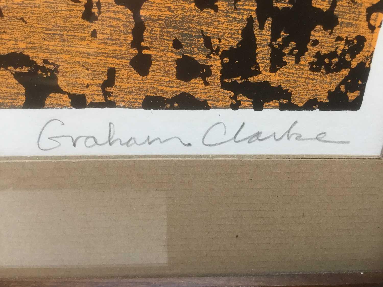 Graham Clarke (b. 1941) woodcut, 1967, St Anthonys, numbered 24/50 - Image 4 of 7