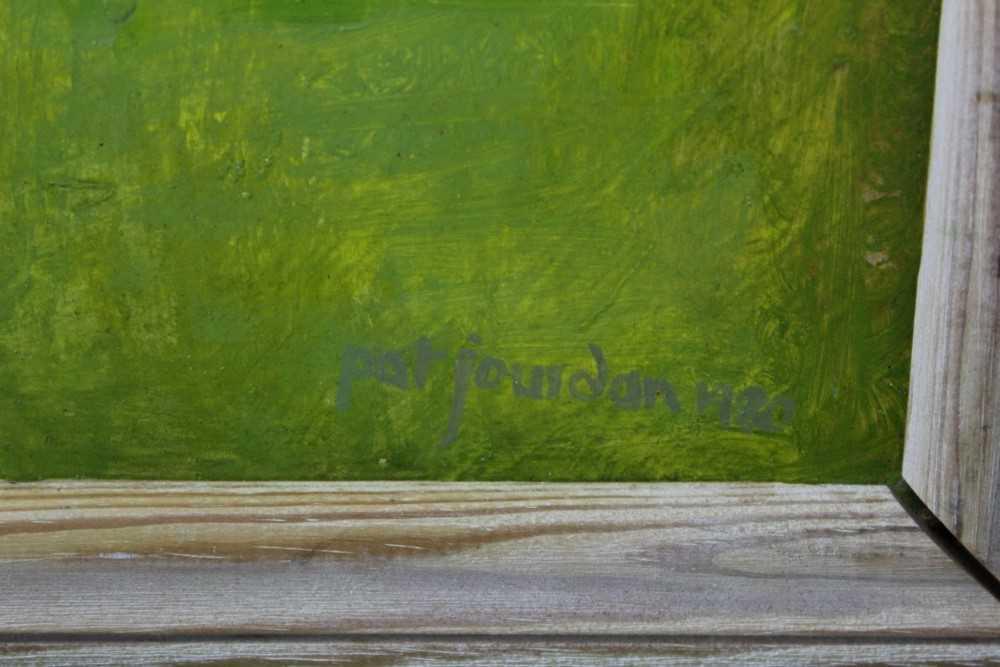 Pat Jourdan (Contemporary) oil on board, Back garden - Image 3 of 9