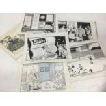 Franklin - group of original pen and ink political cartoons