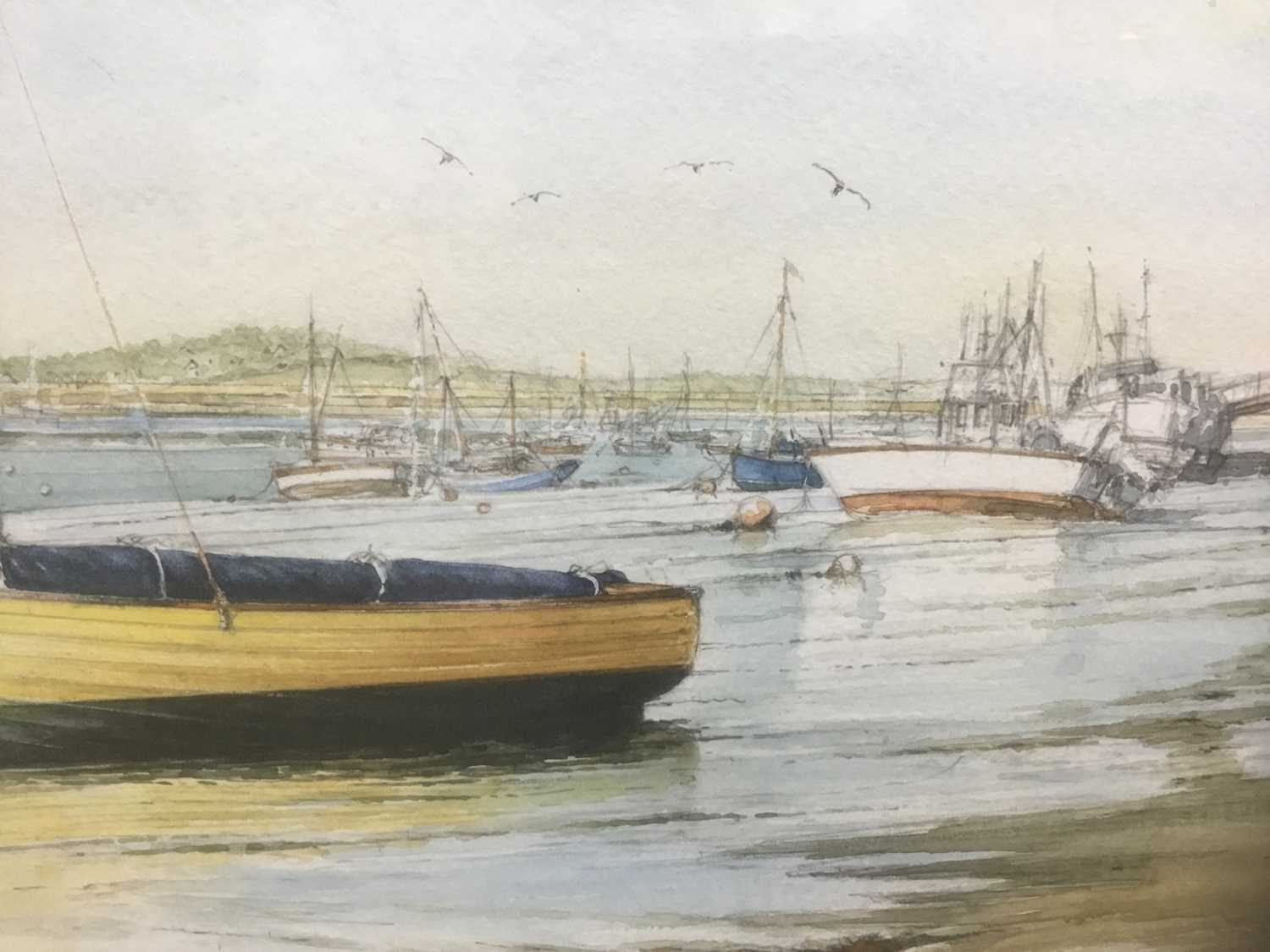 Edwin Meayers (b.1927) watercolour - West Mersea, signed, inscribed and dated '07, 42cm x 67cm, in g - Image 4 of 8