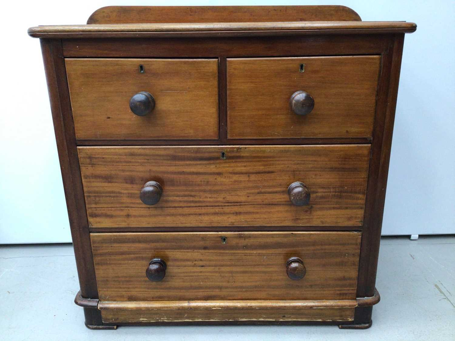Victorian mahogany chest of two short and two long drawers 89cm wide x 46cm deep x 90 cm high - Image 3 of 5