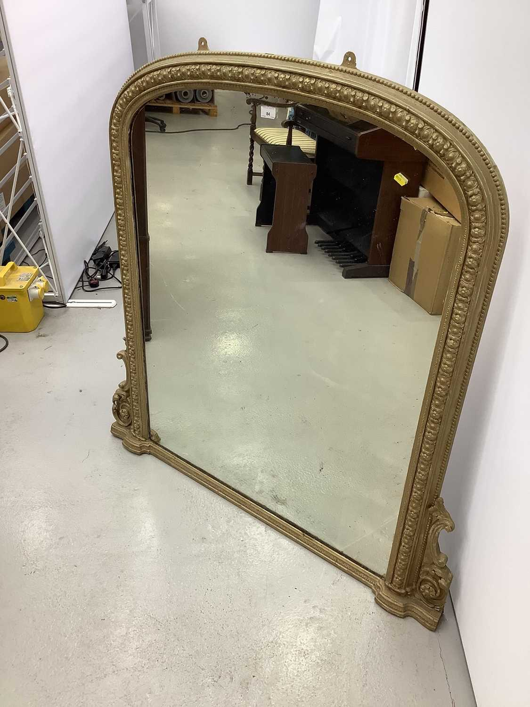 Victorian gilt framed over mantle mirror 123cm wide x 126cm high