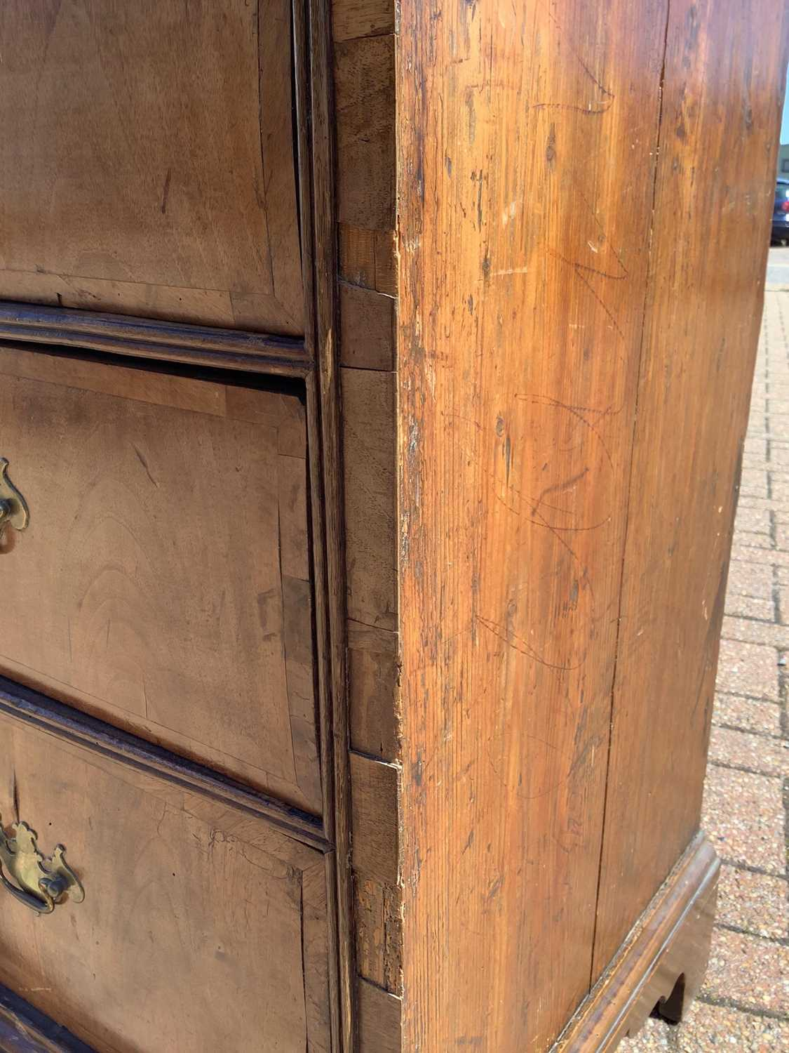 19th century Continental walnut chest of drawers - Image 2 of 7