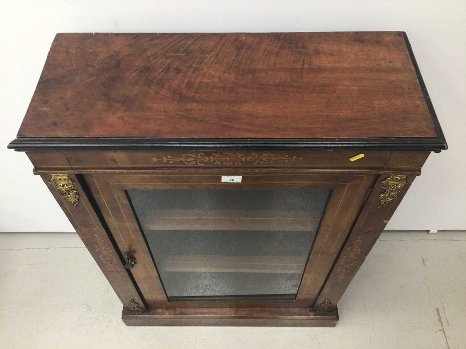 Victorian walnut and inlaid pier cabinet - Image 2 of 5