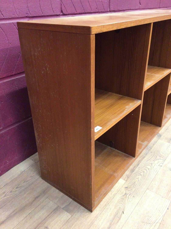 Mid 20th century Danish Nipu teak open bookcase - Image 5 of 5