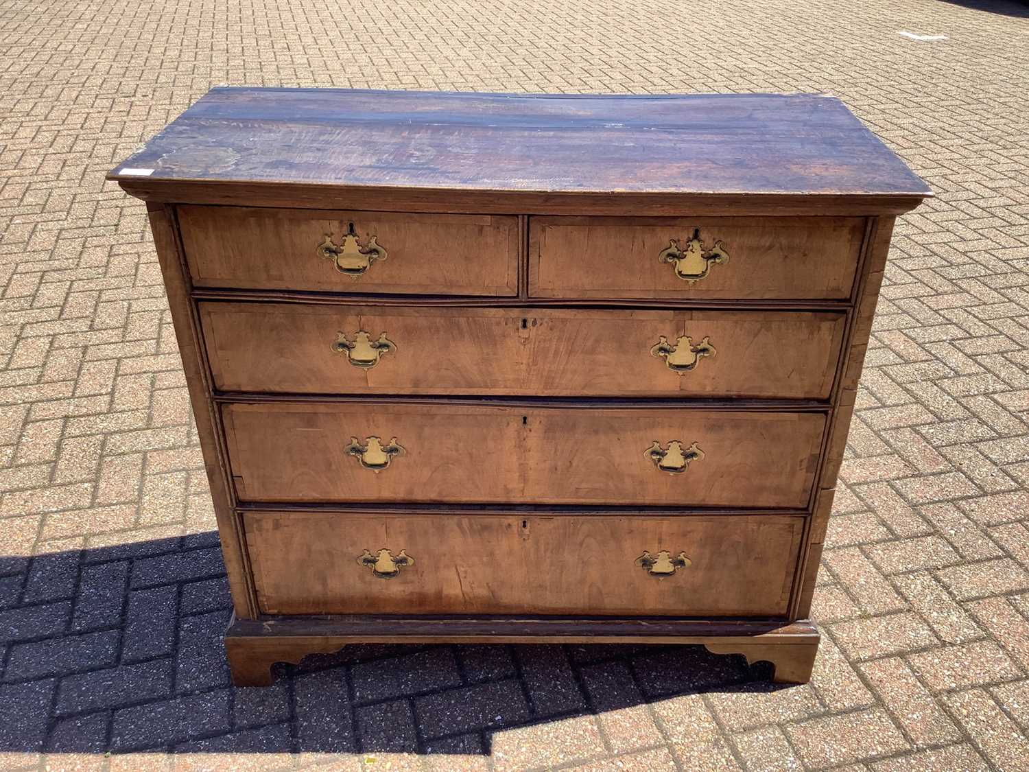 19th century Continental walnut chest of drawers