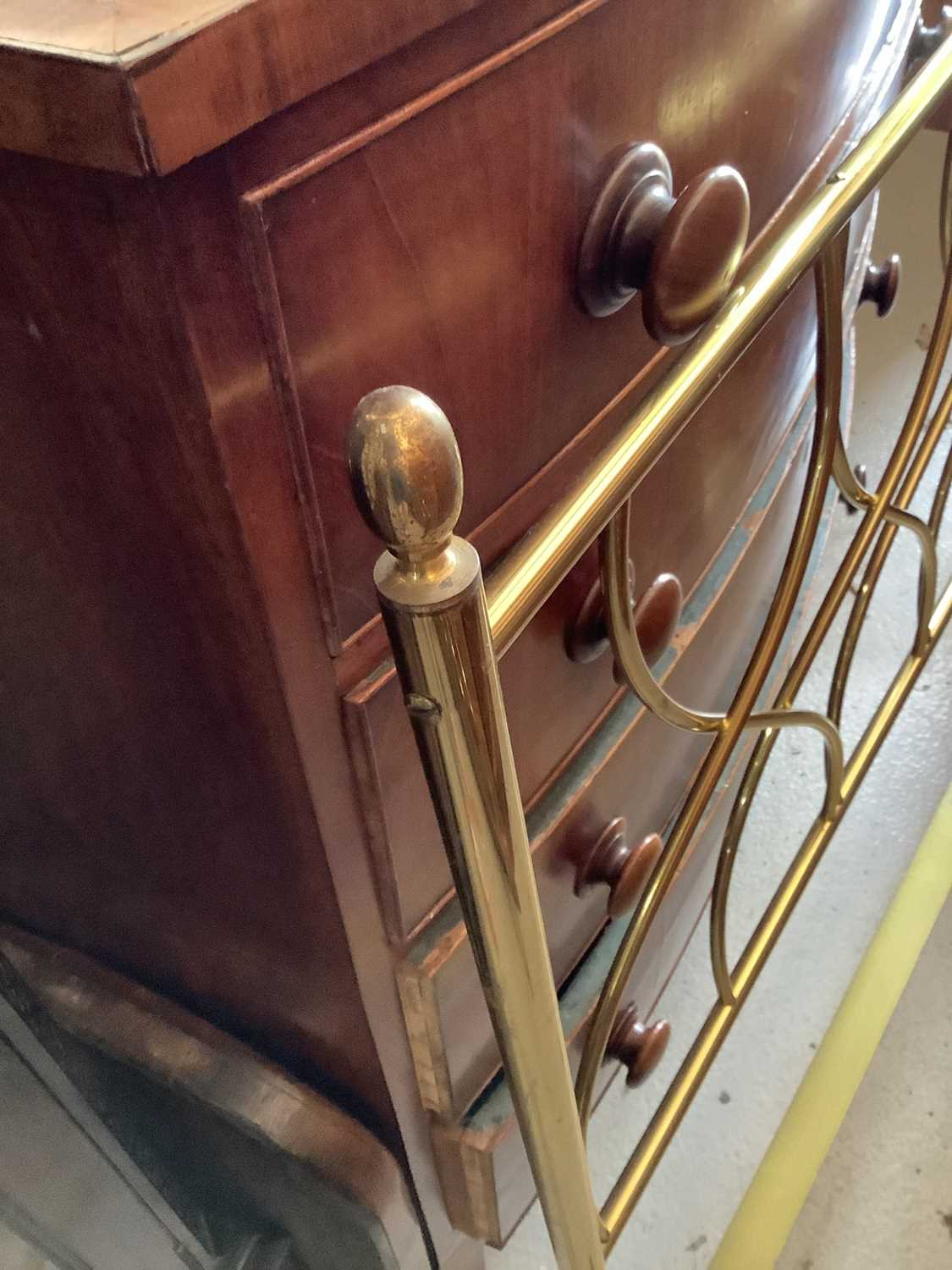 Brass single bed with side irons, 89cm wide - Image 7 of 11