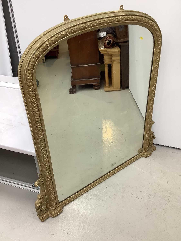 Victorian gilt framed over mantle mirror 123cm wide x 126cm high - Image 5 of 8