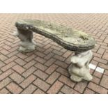 Concrete garden bench with otter supports 115cm x 47cm