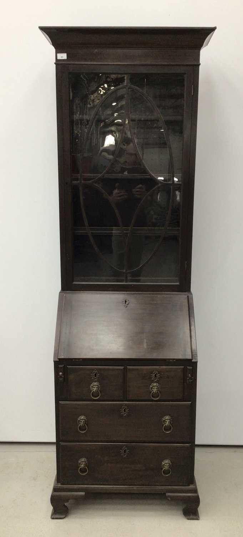 Mahogany bureau bookcase, 18th century with alterations