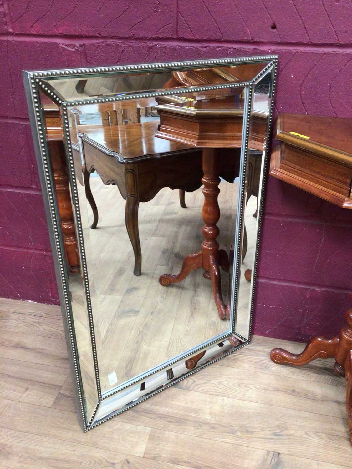 Italian inlaid marquetry table, low coffee table of square form with draw and a mirror (3) - Image 2 of 5