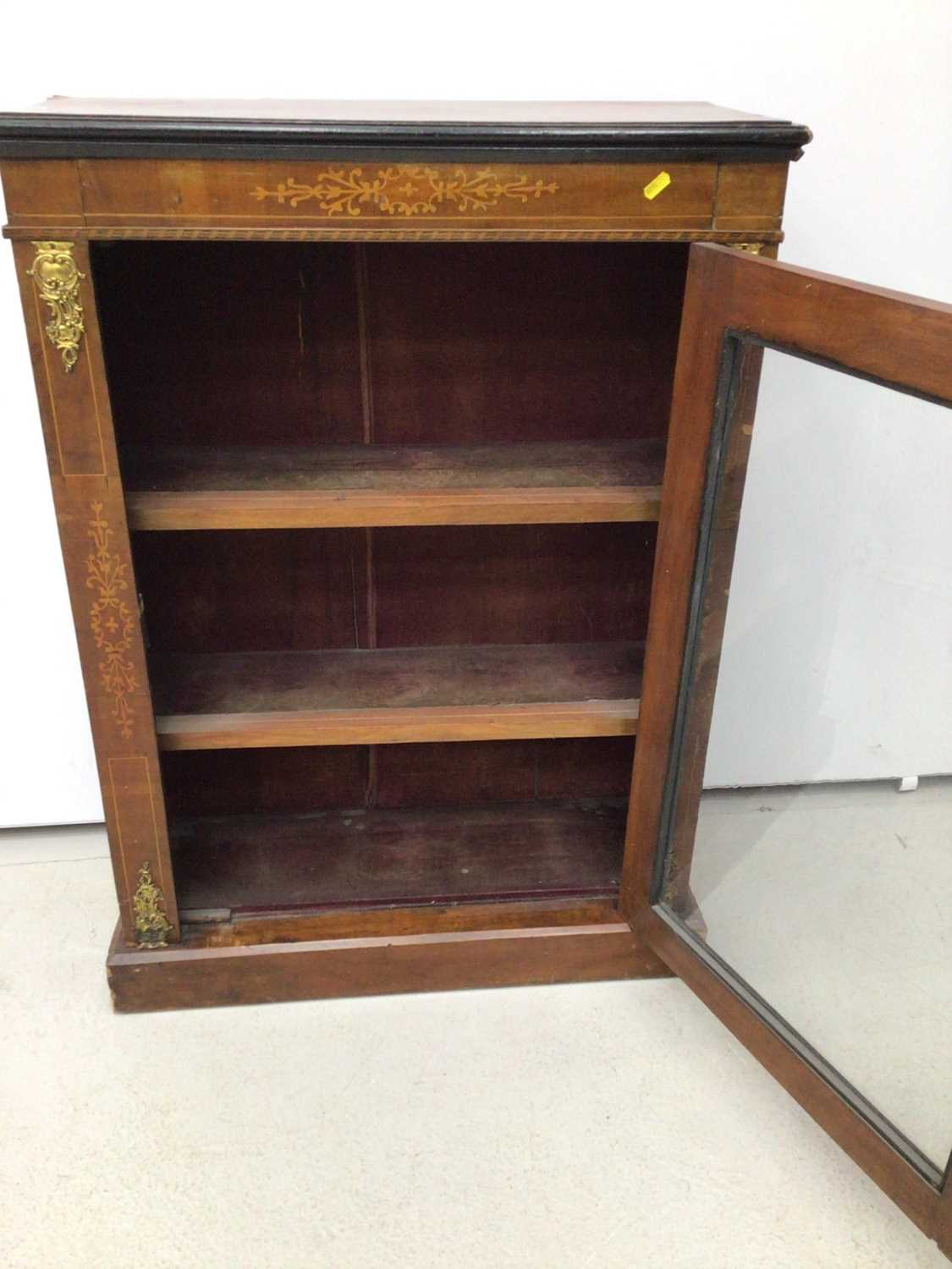 Victorian walnut and inlaid pier cabinet - Image 4 of 5
