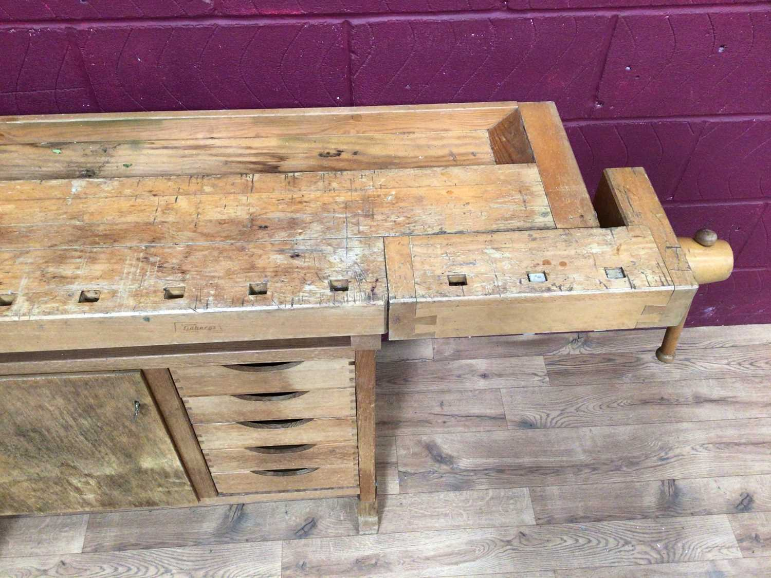 Scandanavian work bench by Gobergs of Sweden - Image 6 of 8