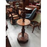 Unusual early 20th century carved oak standard lamp