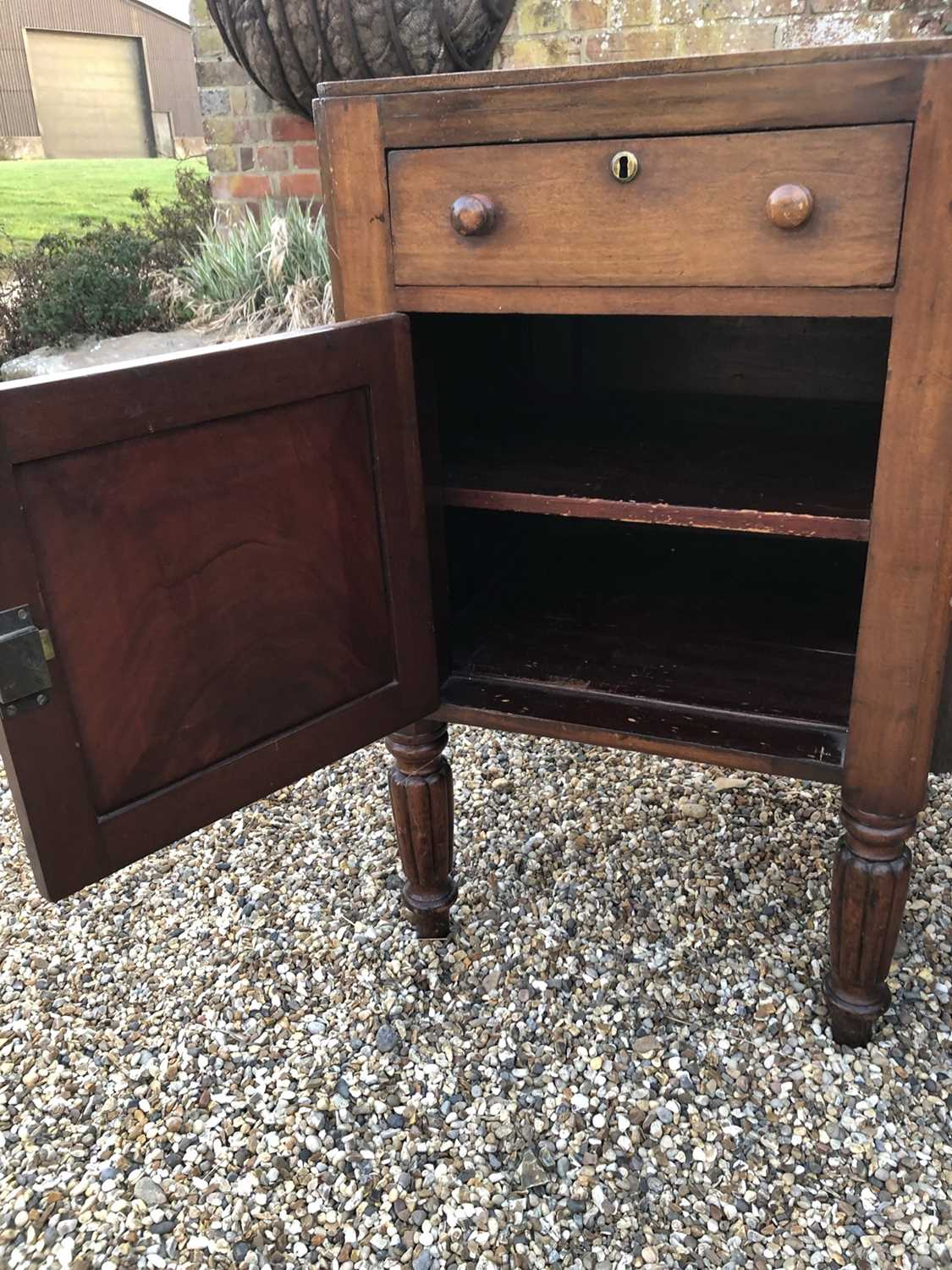 William IV mahogany sideboard with sunk centre and an arrangement of two drawers and four cupboards, - Image 3 of 8