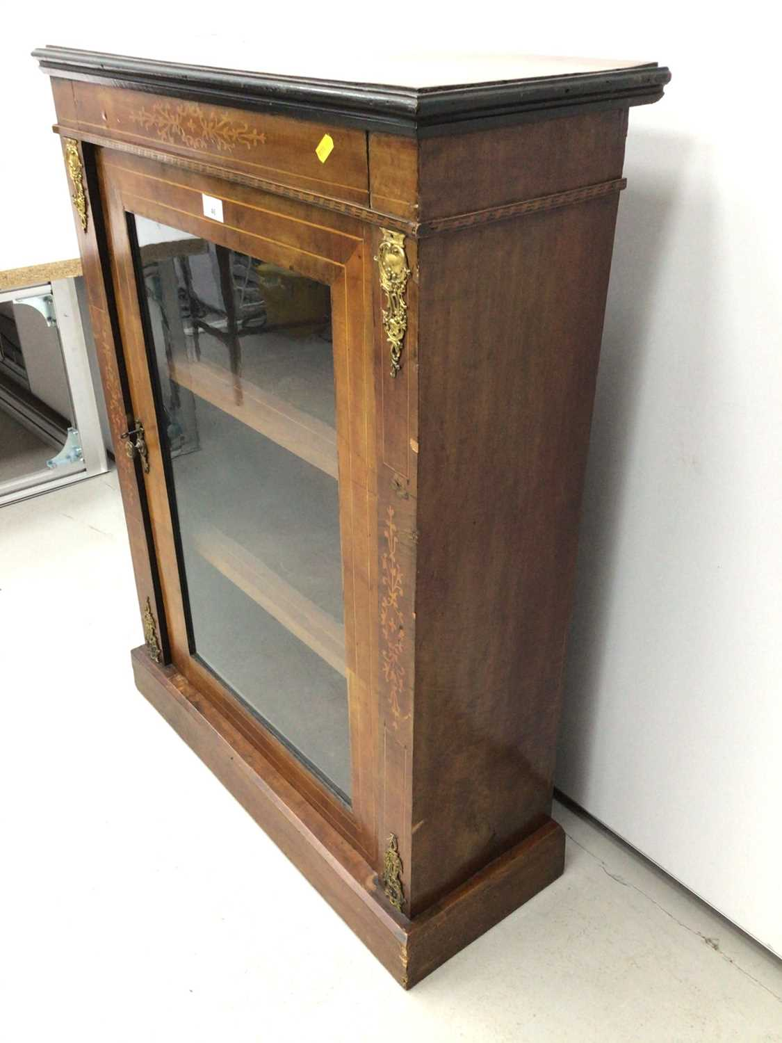 Victorian walnut and inlaid pier cabinet - Image 3 of 5