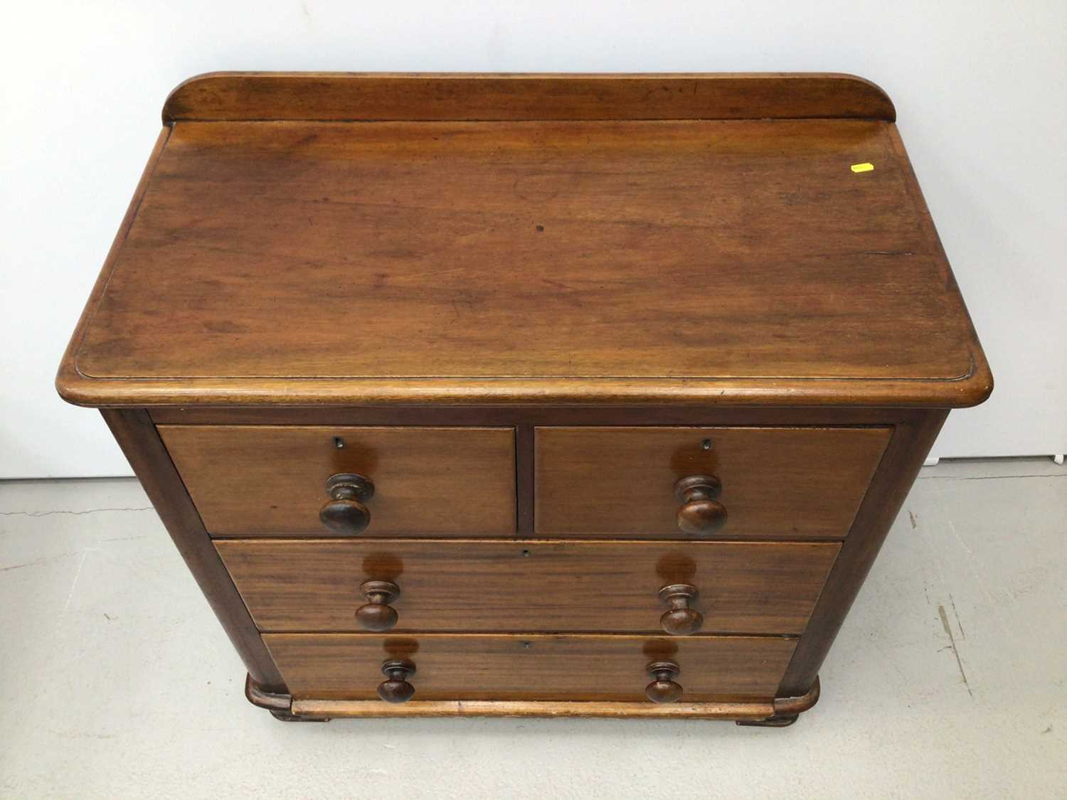 Victorian mahogany chest of two short and two long drawers 89cm wide x 46cm deep x 90 cm high - Image 2 of 5