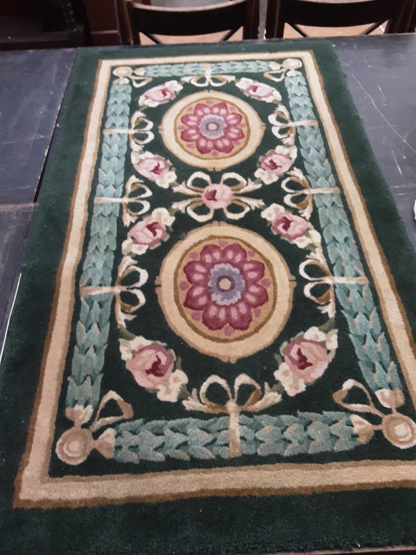 Regency-style Wool rug from the Lanesborough hotel , London 12.5 x 70 cm