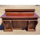 Early Victorian mahogany pedestal sideboard