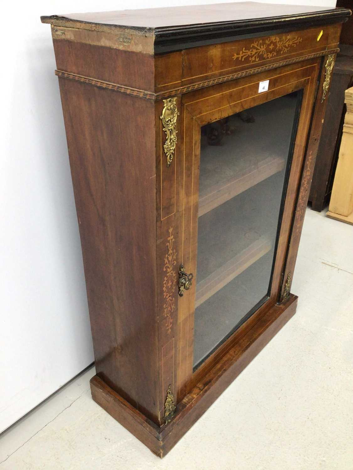 Victorian walnut and inlaid pier cabinet - Image 5 of 5