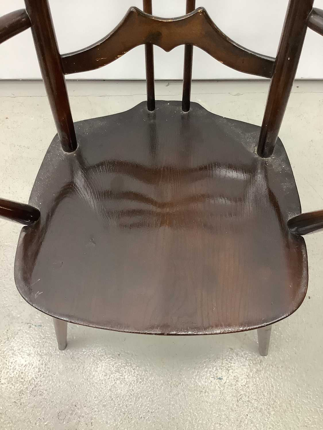 Unusual ercol ladder back elbow chair and an Edwardian corner cupboard - Image 2 of 9
