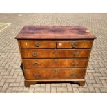 Early 18th century walnut crossbanded chest of drawers