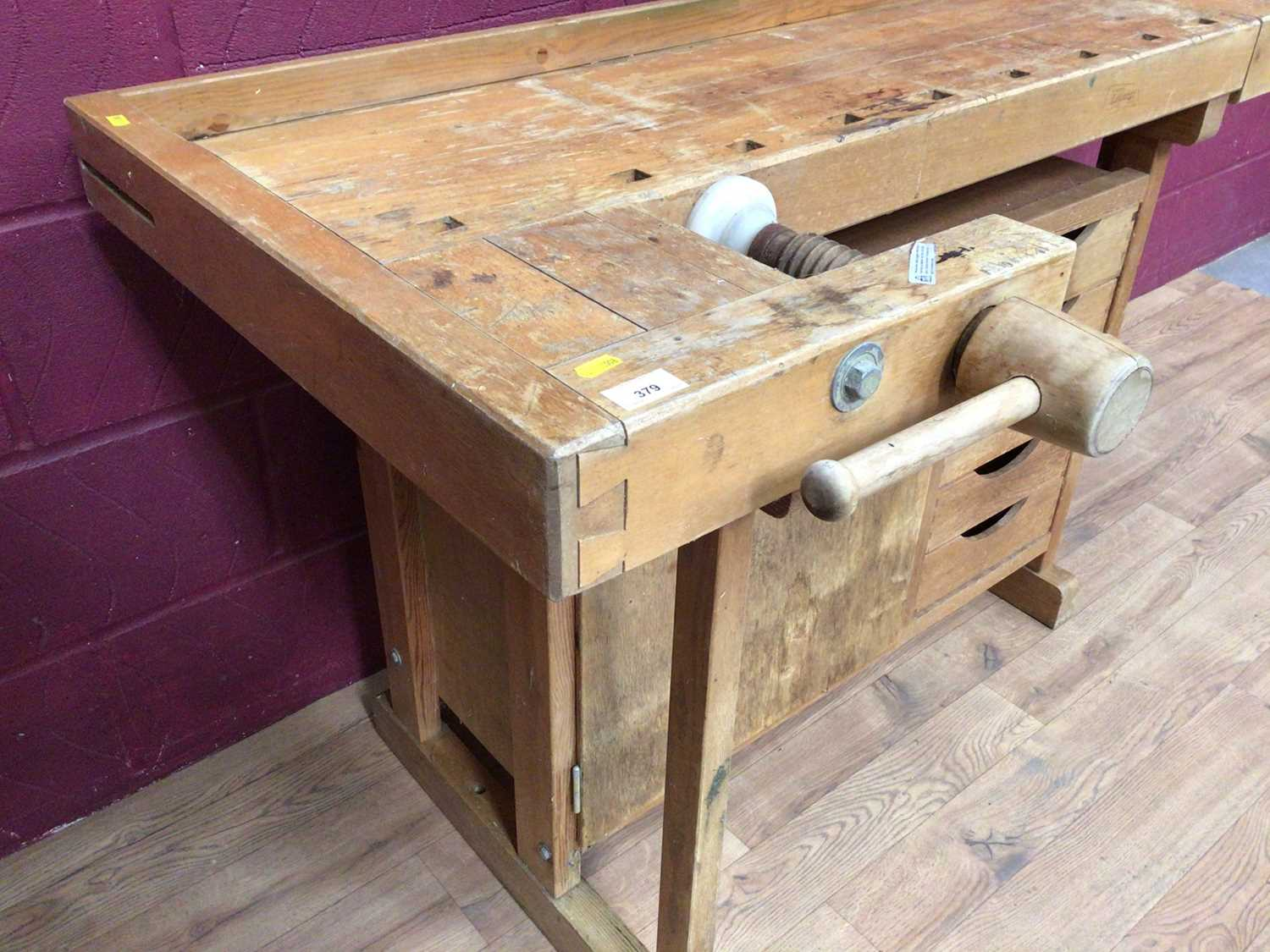 Scandanavian work bench by Gobergs of Sweden - Image 3 of 8