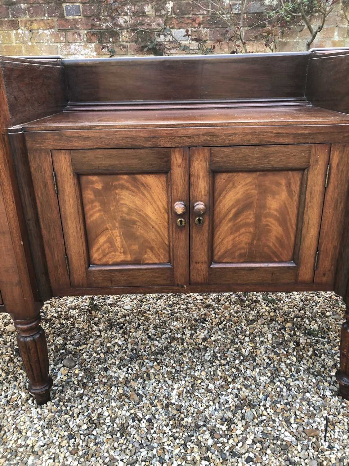William IV mahogany sideboard with sunk centre and an arrangement of two drawers and four cupboards, - Image 8 of 8